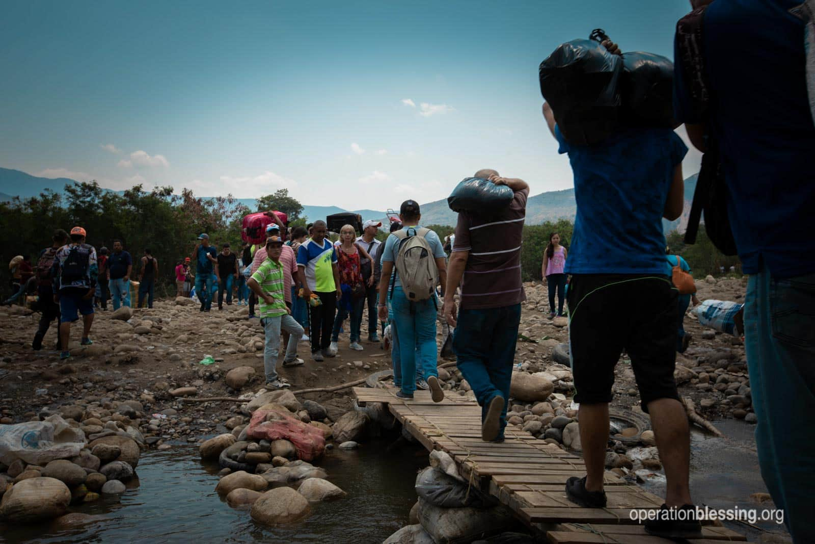 Venezuelan refugees crossing illegally due to the Venezuela humanitarian crisis.