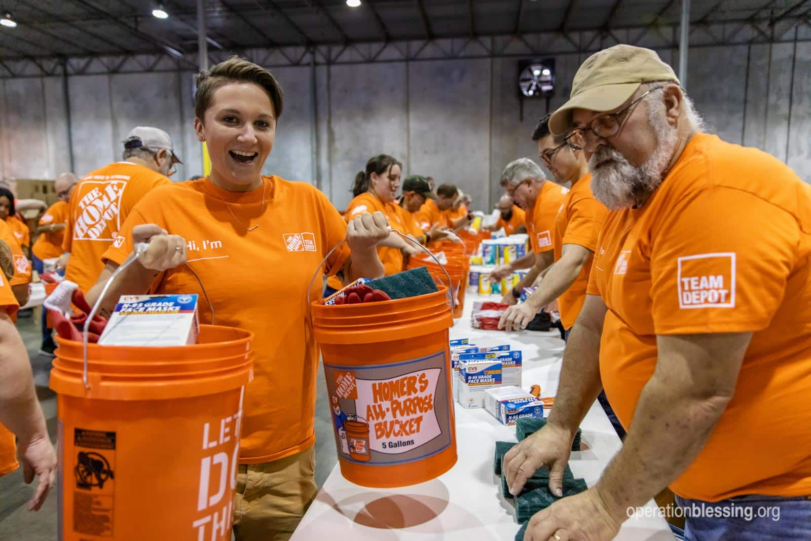 Disaster Relief Kits with The Home Depot - Operation Blessing