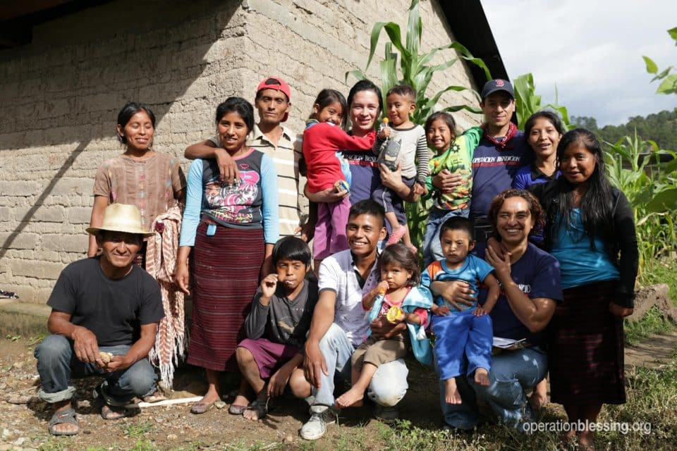 Arturo and others receive disaster relief after earthquake.