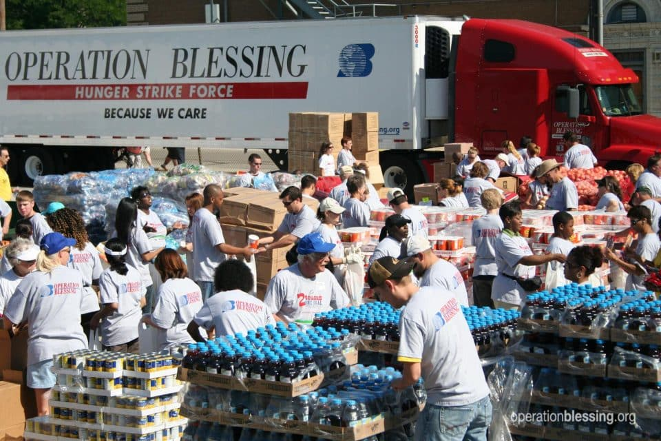 A Hunger Strike Force semi-truck is fighting hunger by delivering food to hungry Americans.