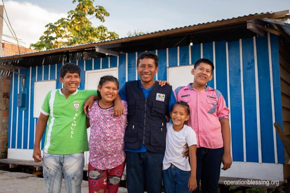 A new safe home for Juan and his children.
