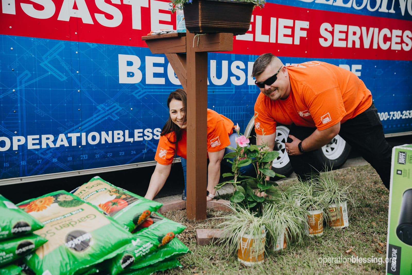 The Home Depot Foundation and Operation Blessing worked together to renovate the home of flood victims.