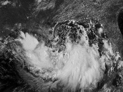 Tropical Storm Barry shown heading toward the U.S.