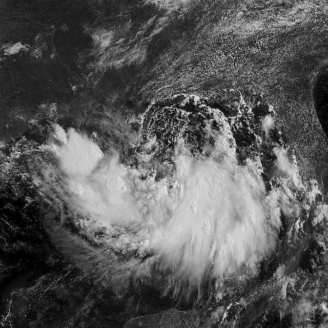 Tropical Storm Barry shown heading toward the U.S.