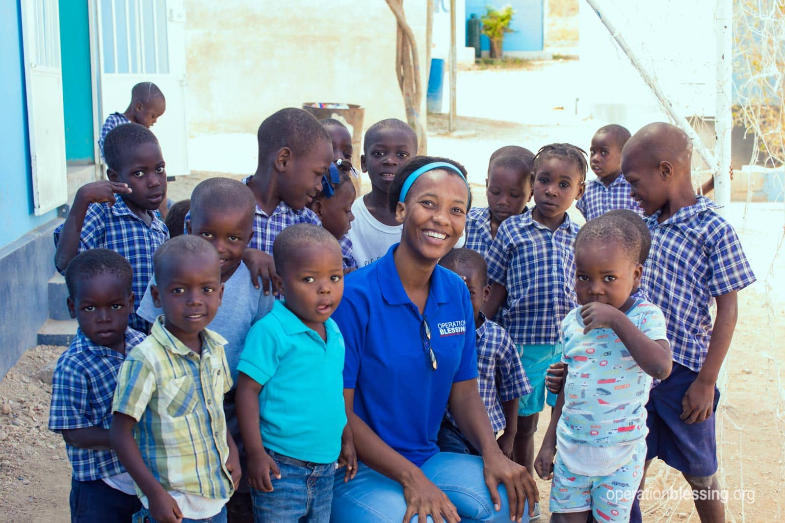 Haitian kids who received free dental care.