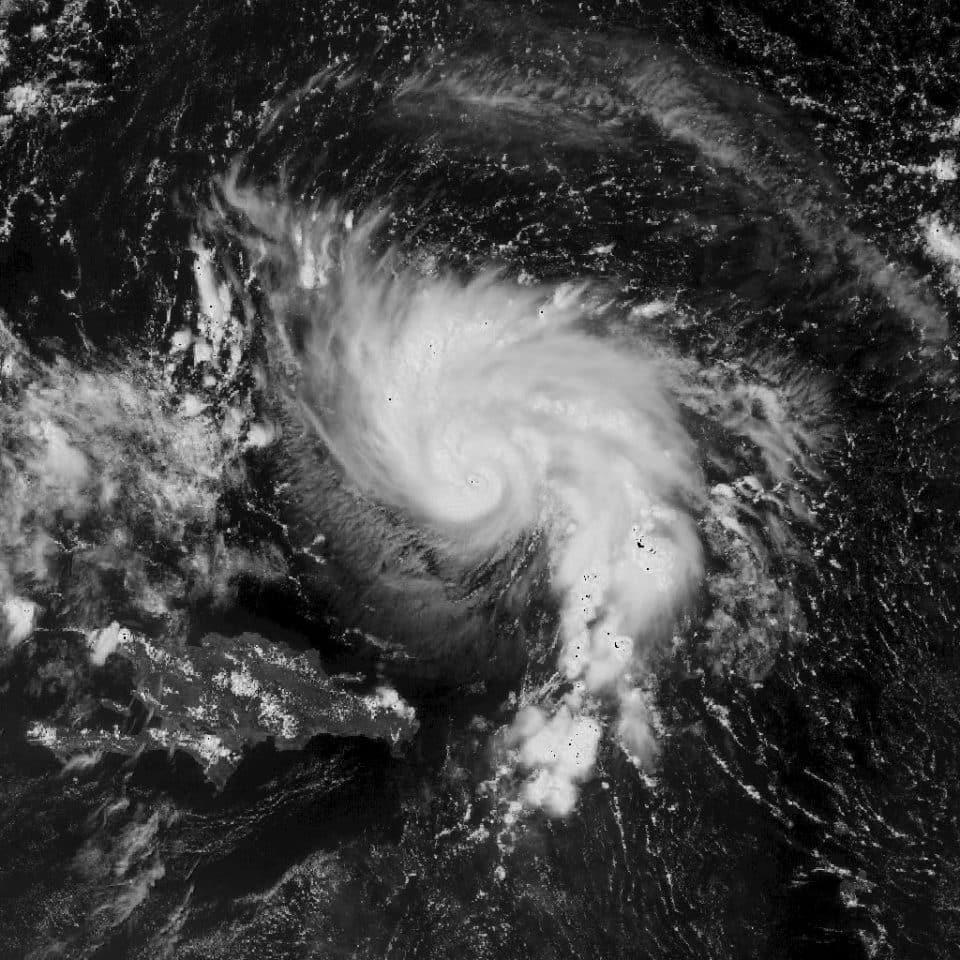 Satellite view of Hurricane Dorian.