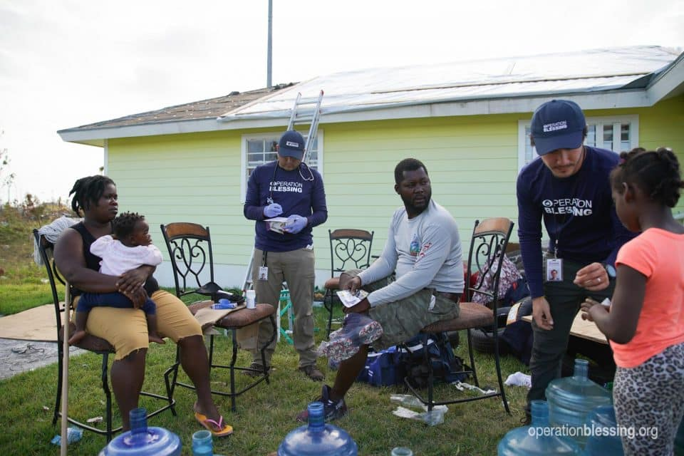 Hurricane Dorian victims gettingdisaster aid from Operation Blessing.