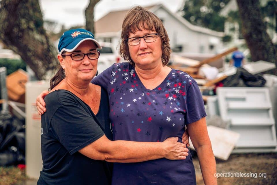 Operation Blessing is serving Hurricane Dorian victims like Trudy and her sister.