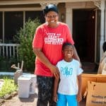 God was good to Debra and her grandson after Imelda flooded their home.