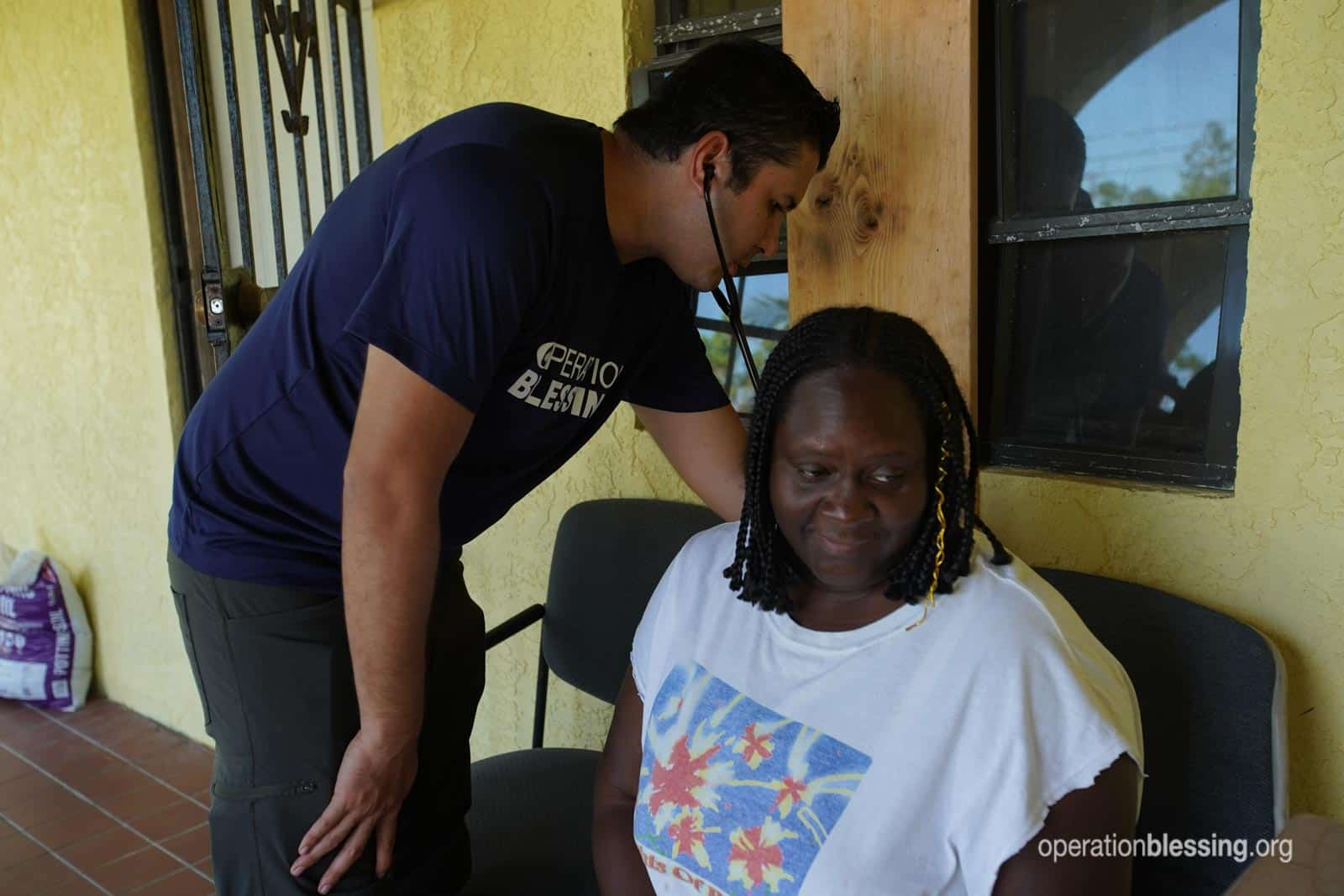 Operation Blessing providing medical aid in Bahamas.