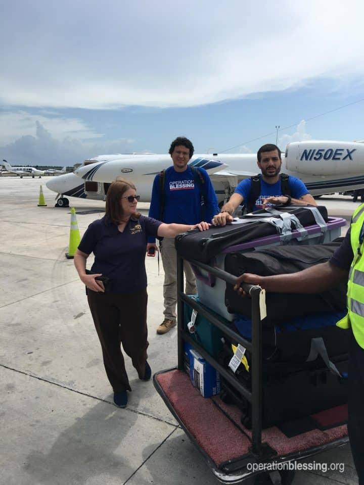 Humanitarian aid supplies.
