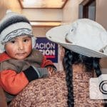 This child in the Peruvian Highlands gets medical care thanks to Operation Blessing friends.