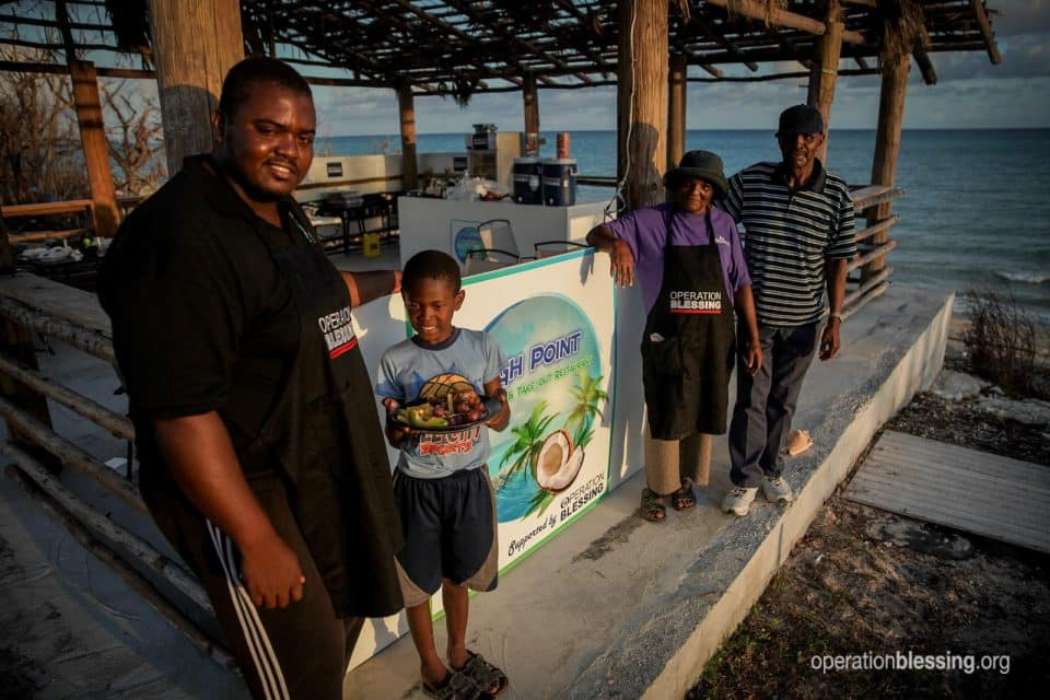 This family restaurant in the Bahamas is reopening after Hurricane Dorian thanks to Operation Blessing.