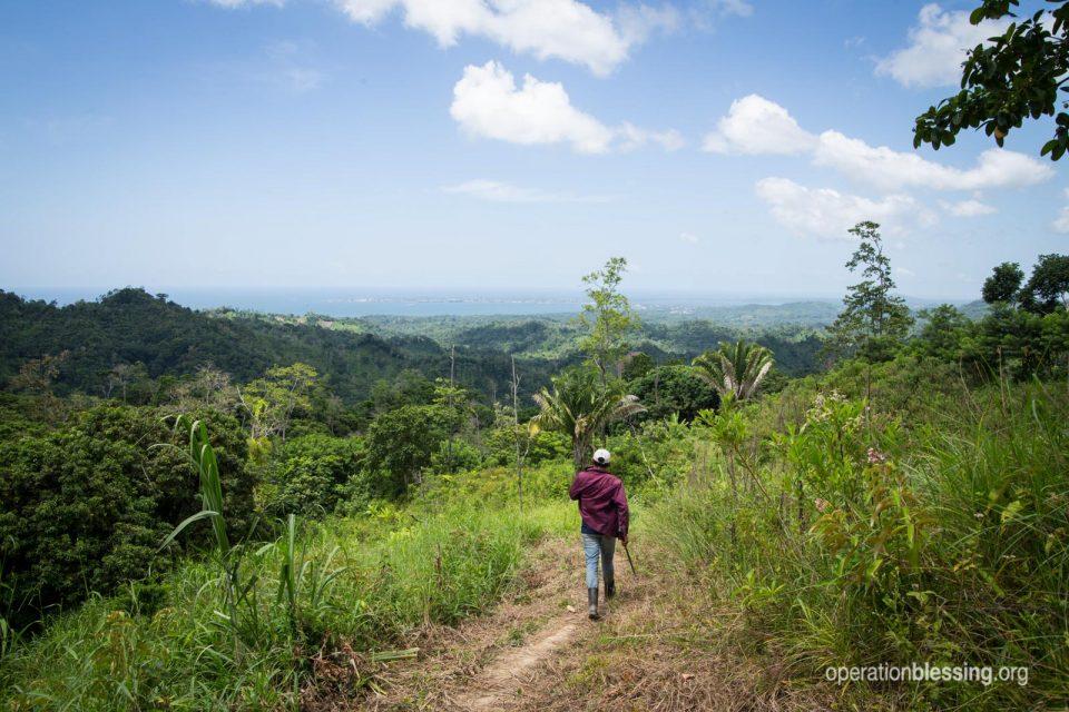 Man walking in Honduras.