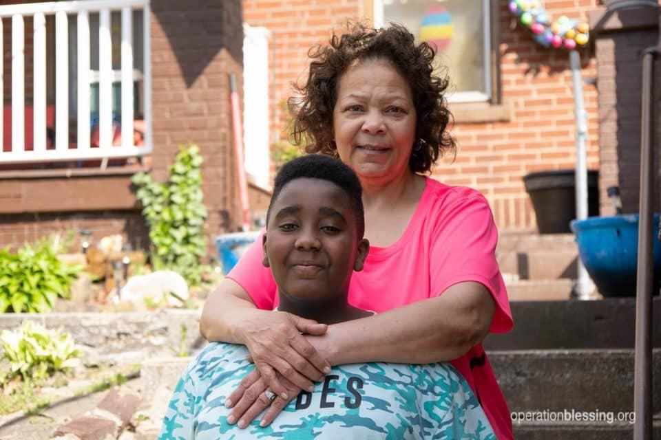 Tina with her foster son Josiah.