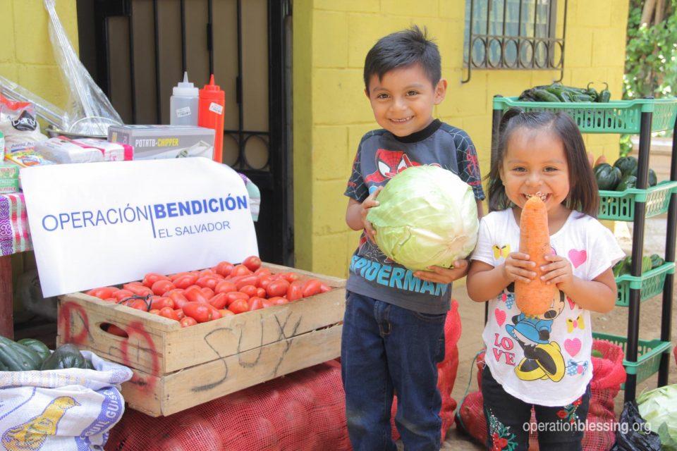 Iris's children in El Salvador now have plenty to eat.