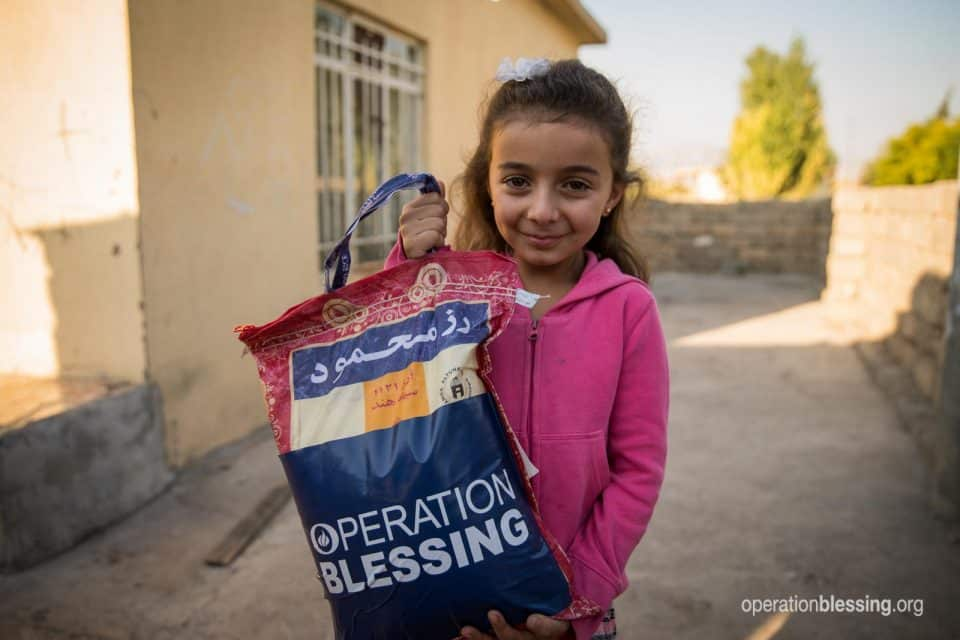 You are sending help to refugees like this young Syrian girl.