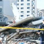 Destruction from the Albania earthquake.