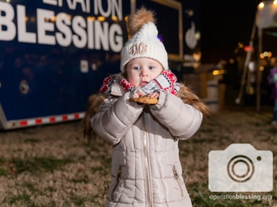 Operation Blessing is spreading Christmas cheer at the CBN Christmas village.