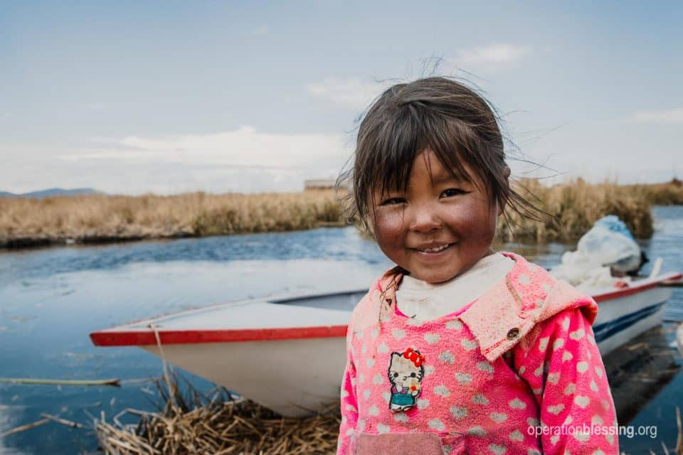 Rosa has the nutrition she needs because Operation Blessing friends are fighting hunger in Peru.
