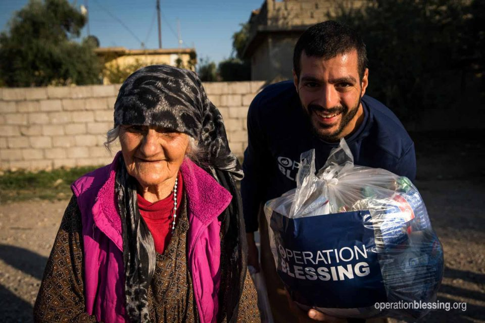 Hunger relief for Syrian refugees.