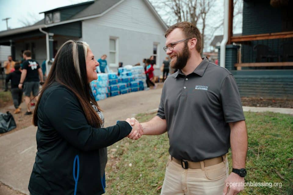 Operation Blessing brings disaster recovery after Nashville tornado.
