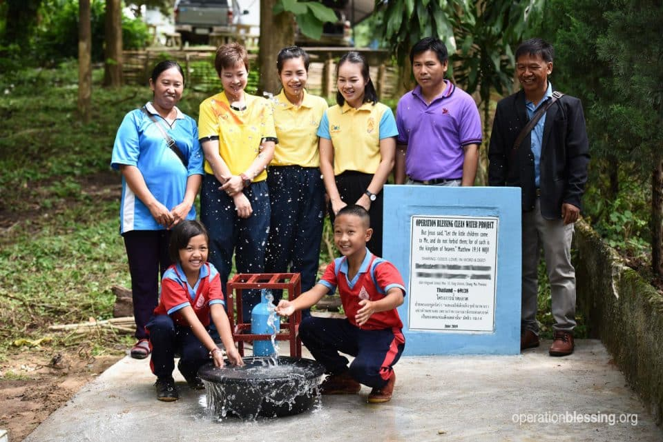 Celebrating the new water well.