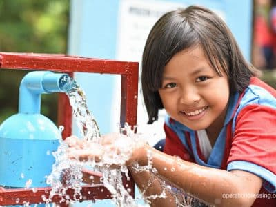 School children in Thailand have clean water thanks to a new water well.