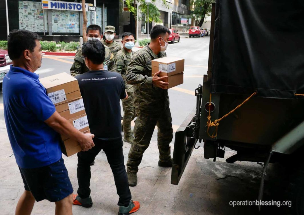Operation Blessing supplying hospitals with supplies to fight the pandemic.