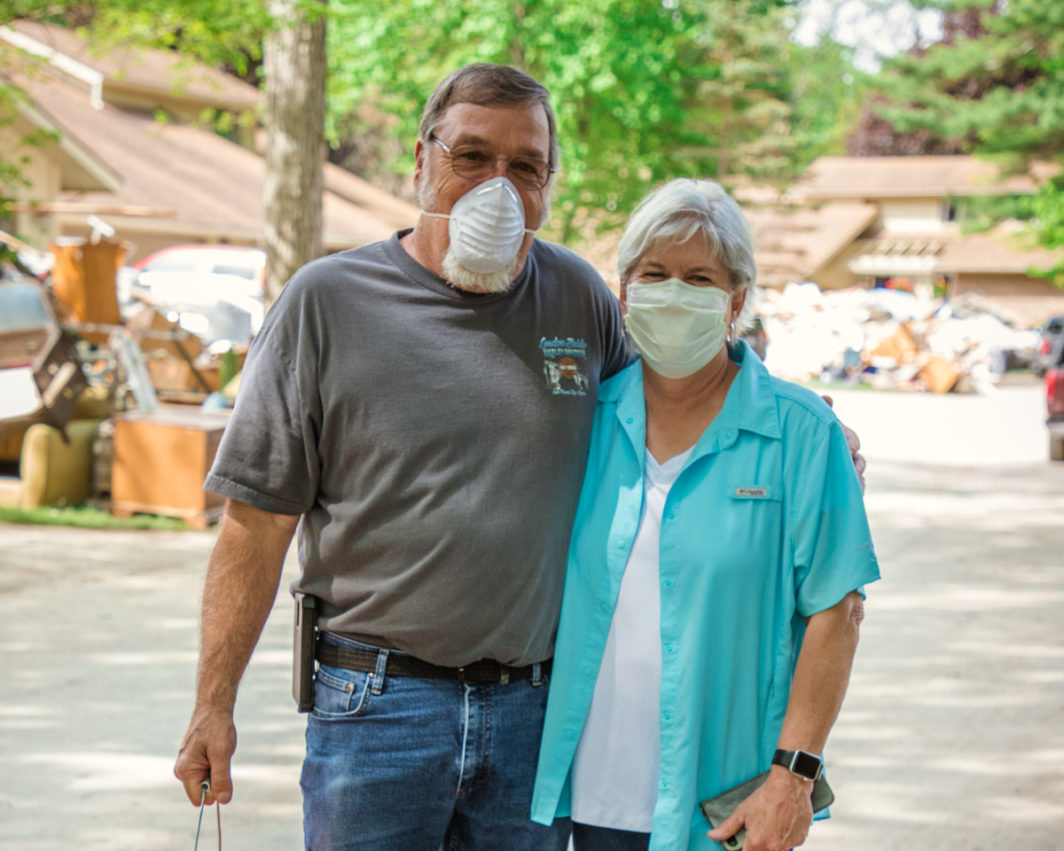 Donna and Richard get flood relief.