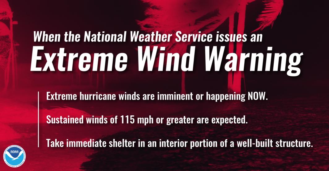 Extreme Wind Warning