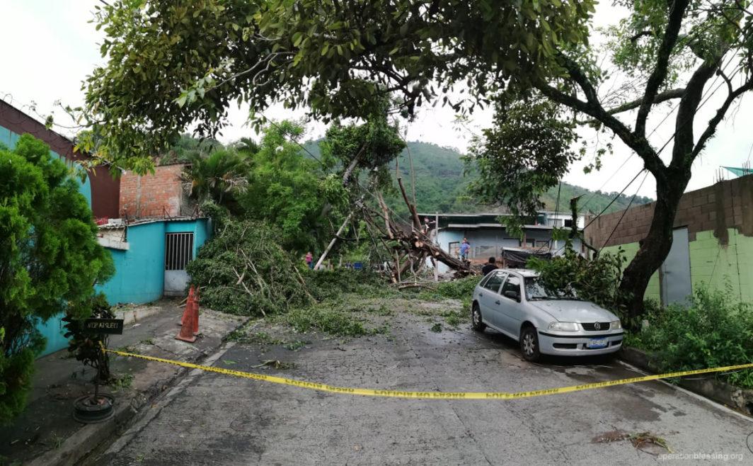 Damage from Tropical Storm Amanda in El Salvador.