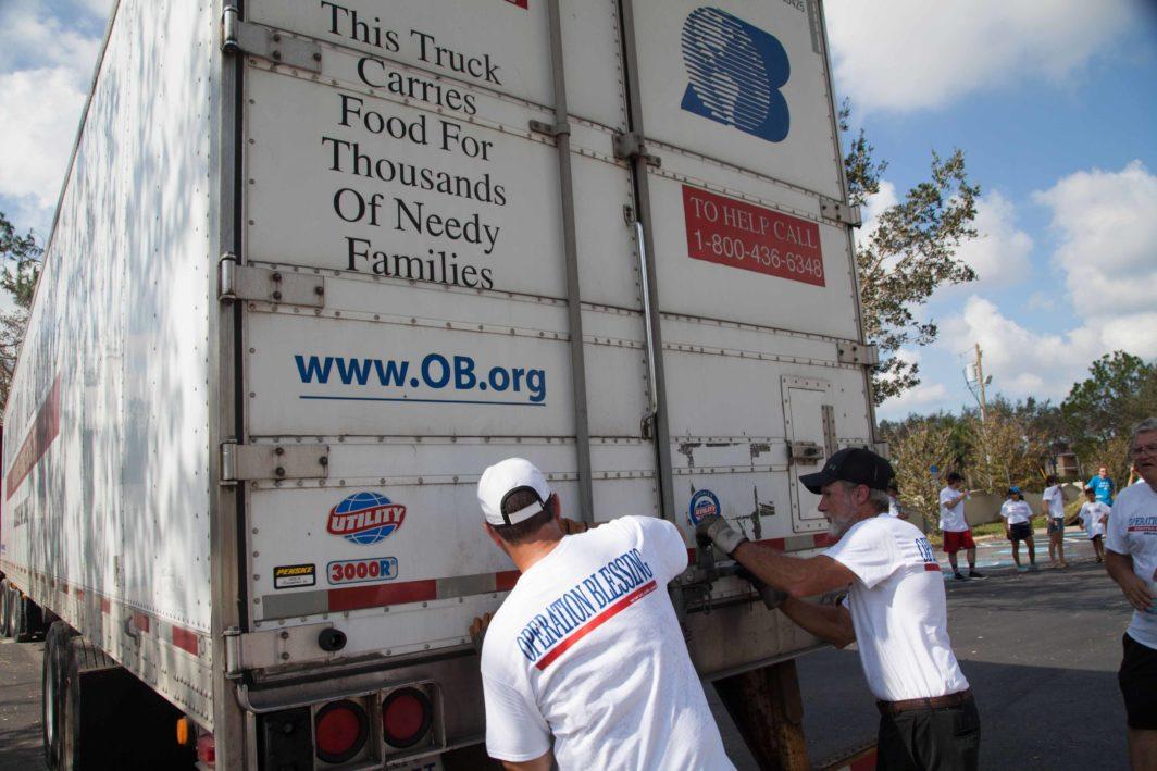 hurricane relief site