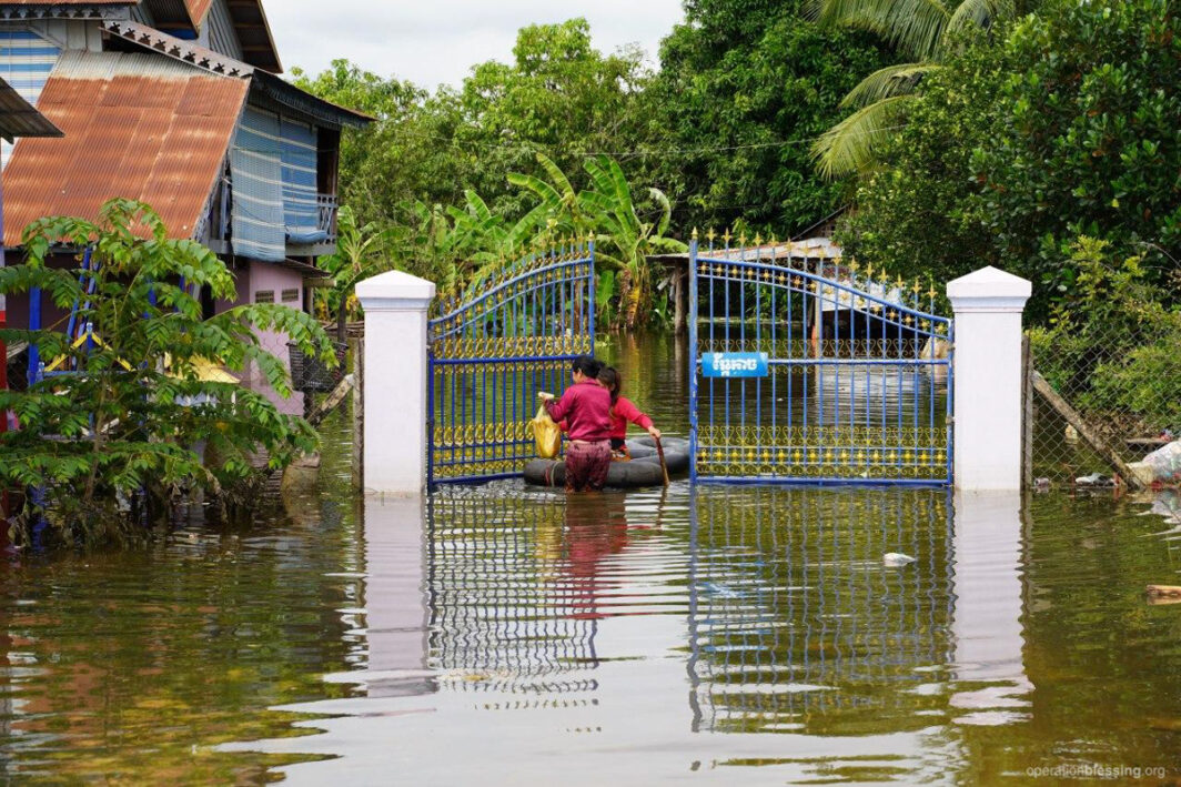 Flood waters in Cambodia