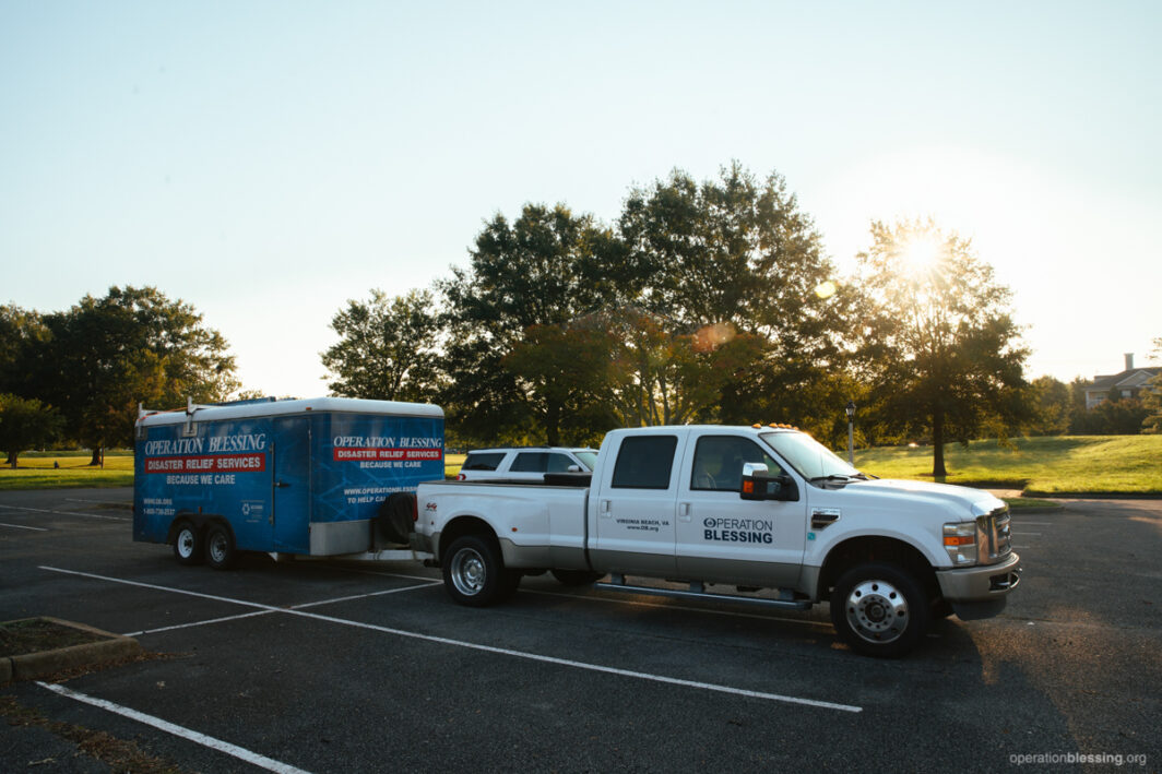 Operation Blessing disaster relief team is prestaging to provide aid to victims of Hurricane Delta.
