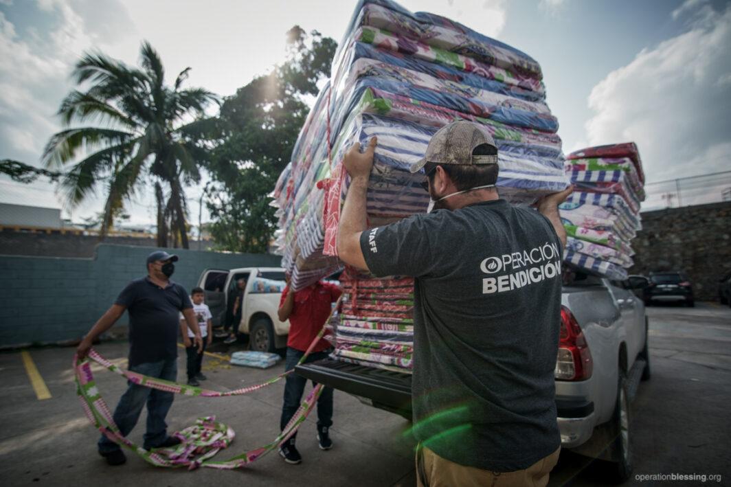 Hurricane relief - sleeping mats.