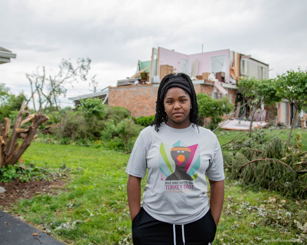 tornado victims after the tornado strikes