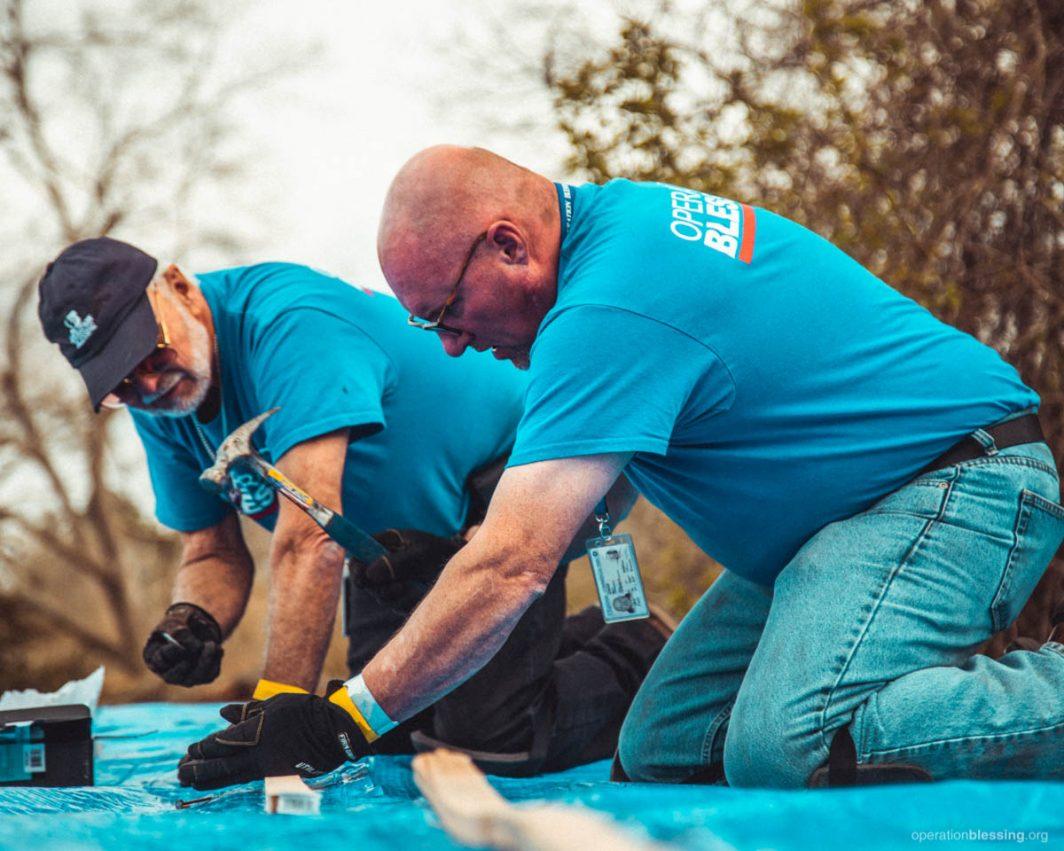 tornado volunteers on tornado sites