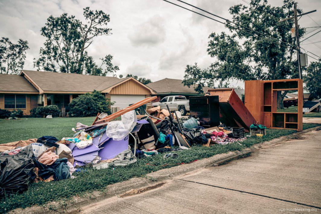 flood damage in Louisiana