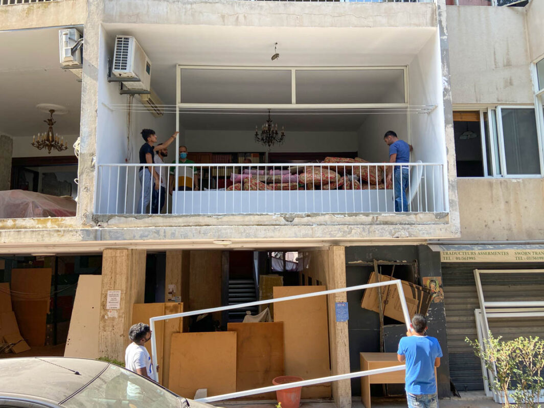 Rebuilding and bringing relief after the Beirut blast