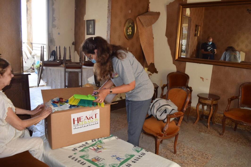 Delivering relief supplies after Lebanon explosion