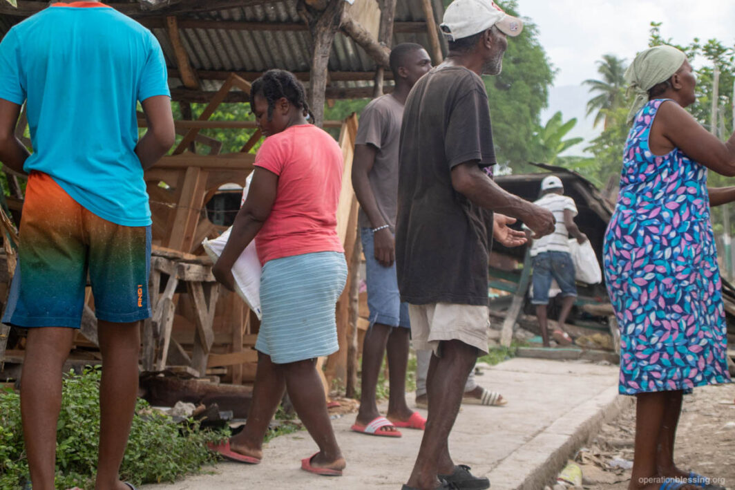 Emergency relief supplies after earthquake in Haiti