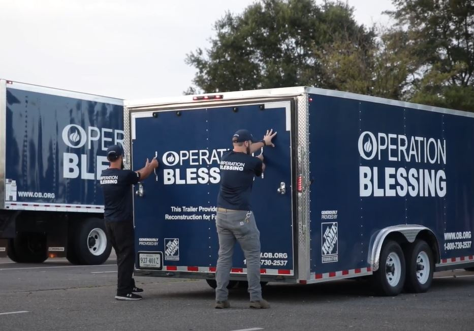 Operation Blessing disaster relief team pre-staged for Hurricane Ida