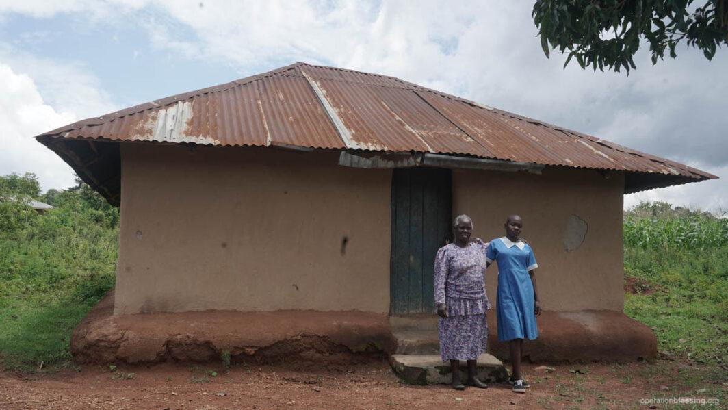 Violet and her grandmother in Kenya